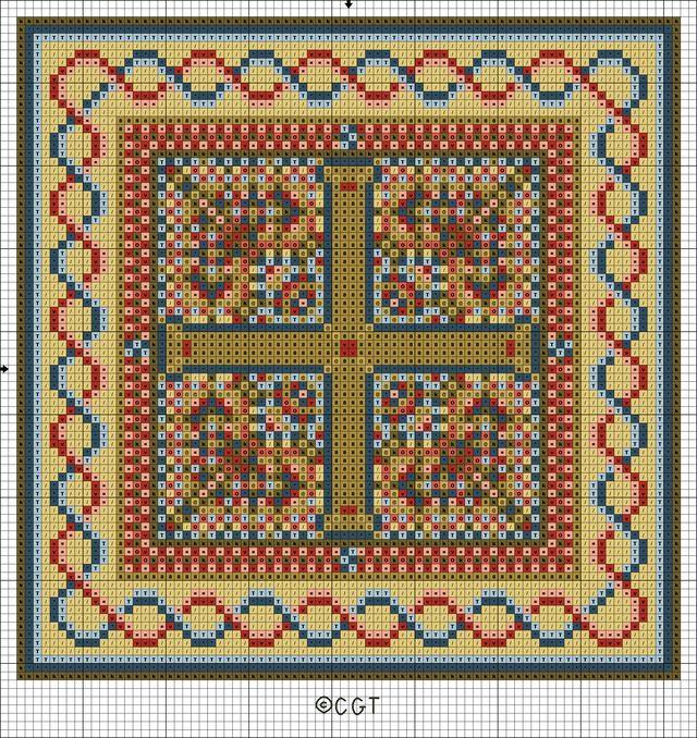 Free Byzantine Tile Patterns - Byzantine Trio - Free Printable ...