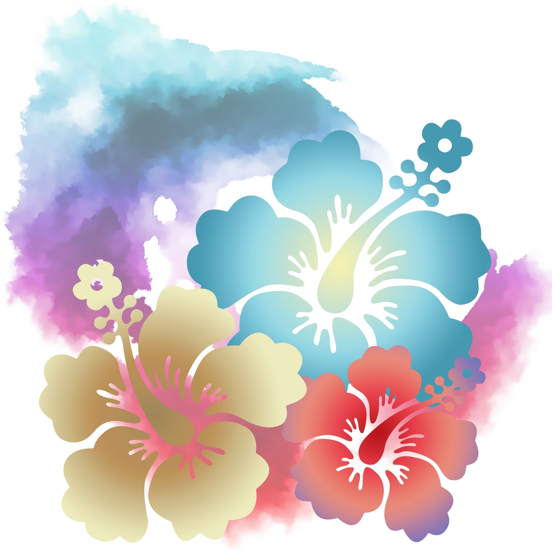 Hawaiian Hibiscus Flower Background Flower Backgrounds Hibiscus Flowers Backgrounds Free