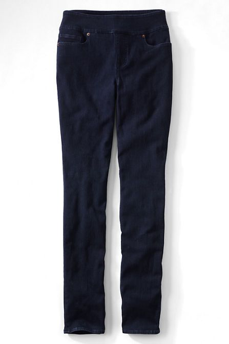 Women's Plus Size Pull-on Skinny Jeans from Lands' End | Wardrobe ...