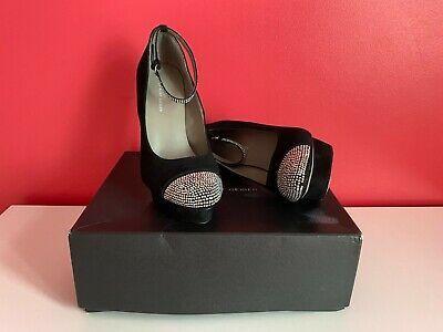 Kurt Geiger Ladies Black Leather High Heel Shoes - Size 7 ***Brand New*** | eBay