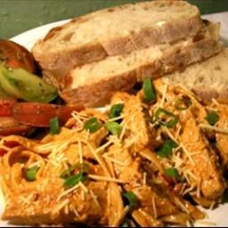 """Cajun """"chicken"""" Alfredo on BigOven: Amazing!  Serve with Heirloom Tomato Salad, or a nice green salad with a balsamic vinaigrette dressing, and some good, crusty bread."""