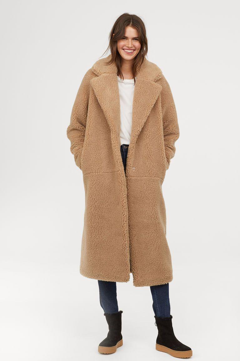 4fac926963c3f ... Teddy Bear Coats Betches. Long Pile Coat - Dark beige - Ladies