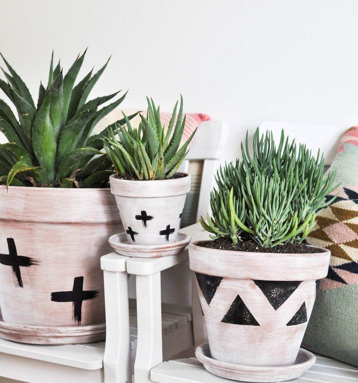 Nov 1 DIY Whitewashed Terra Cotta Pots images