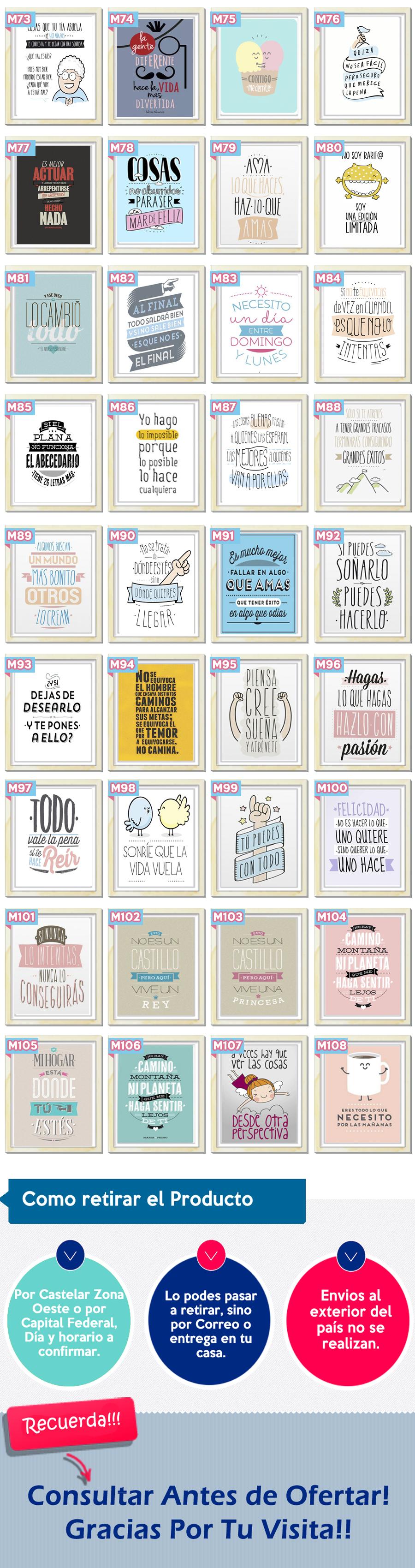 Cuadros Originales Modernos Personalizados Frases Colegio