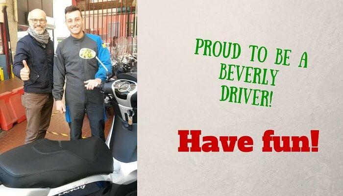 C'è un nuovo proprietario #Beverly in giro! Ed è molto soddisfatto!! #piaggioface