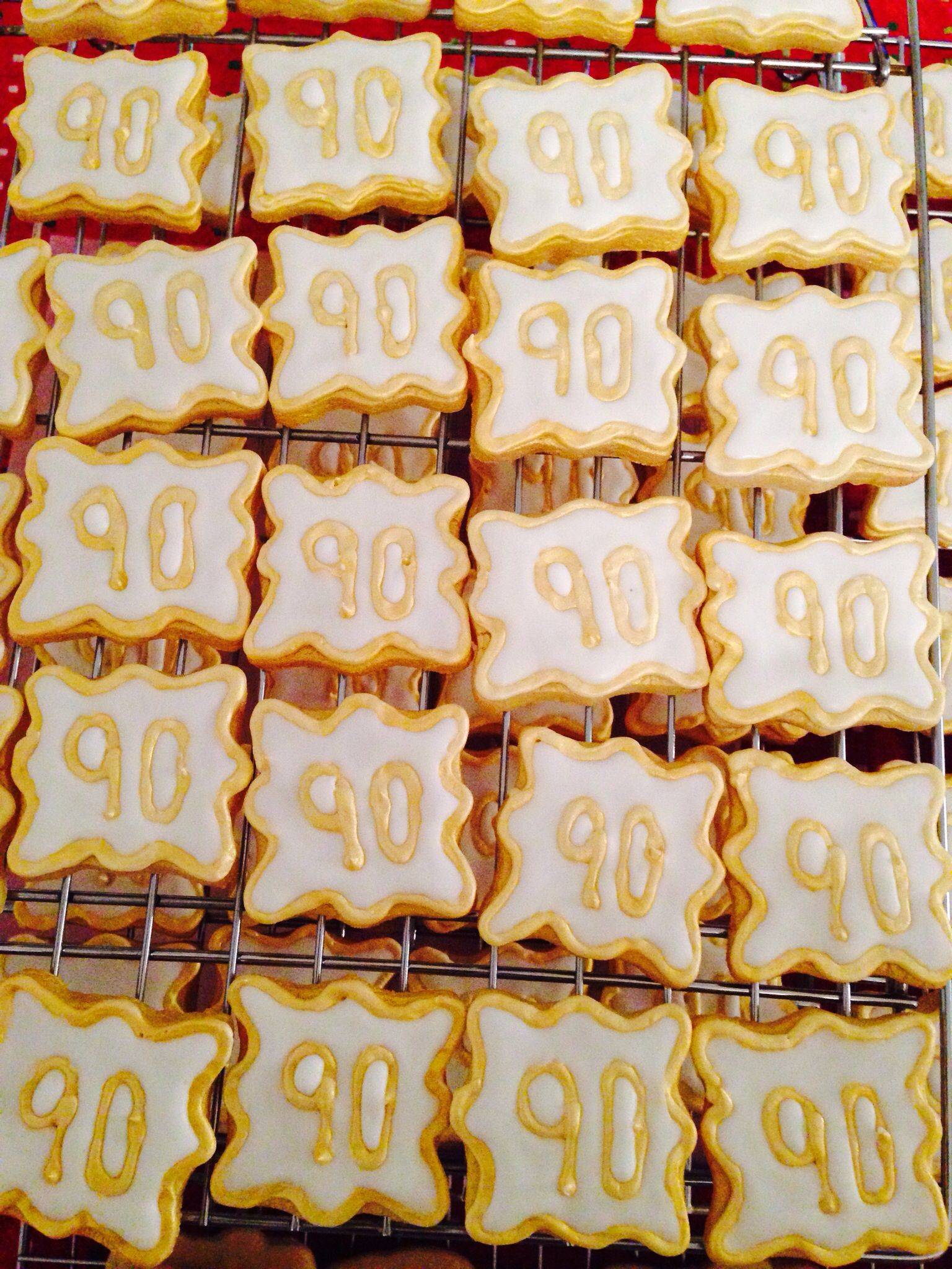 Mini Cookie Favors For 90th Birthday Made By Me 90th