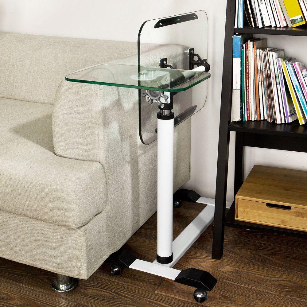 Amazon Com Sobuy Fbt07n5 Tempered Glass Laptop Table