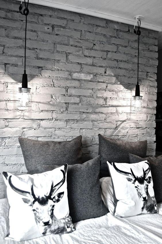 Pin De Deni Daycoff En Bachelor Lair Paredes Interiores De Ladrillo Interior De Ladrillo Paredes De Ladrillo Pintadas Black brick wallpaper bedroom ideas