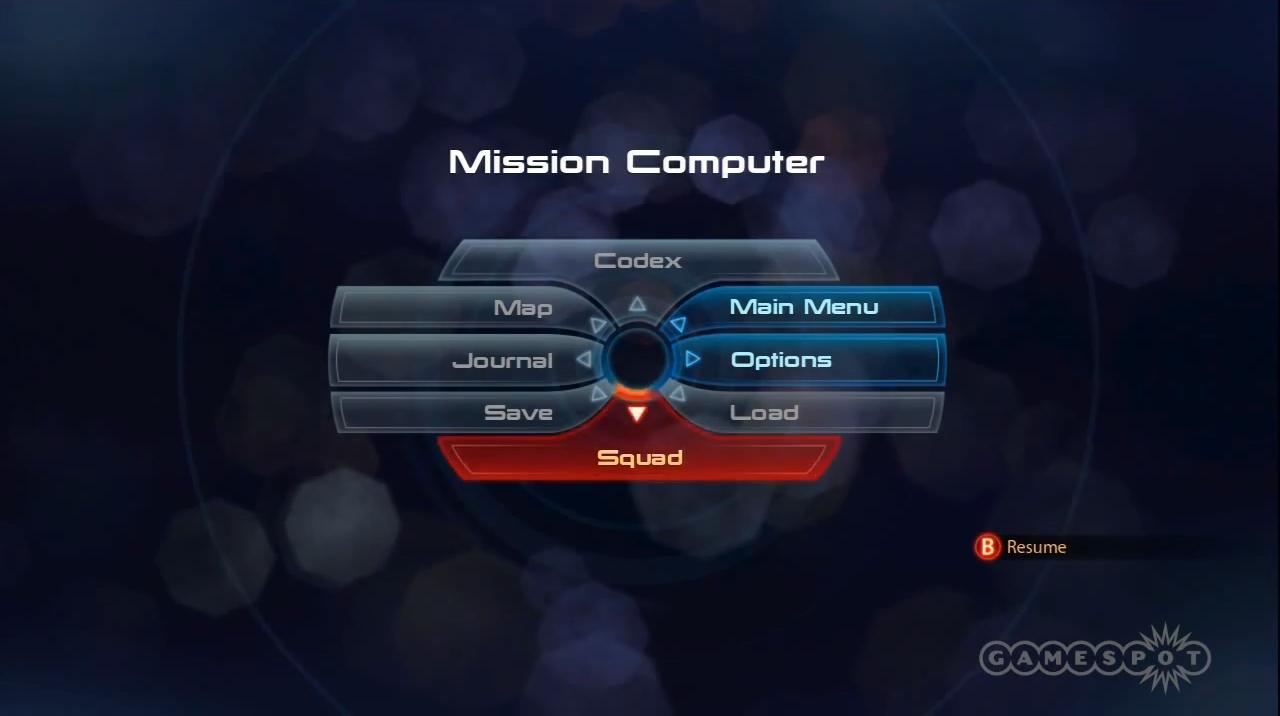 Game menu ui