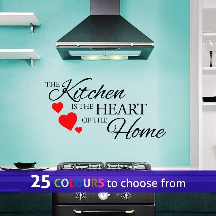 The Kitchen Is The Heart Of The Home Wall Art Sticker From Linagifts Wall Stickers For All The Food Lo With Images Sticker Wall Art Wall Art Quotes Family Home Wall Art