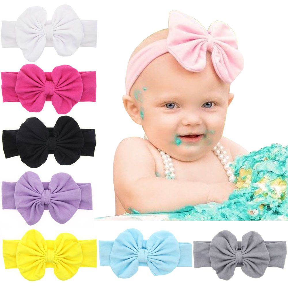 Newborn Headband Ribbon Elastic Baby Headdress Kids Hair Band Girl Bow Knot Lot