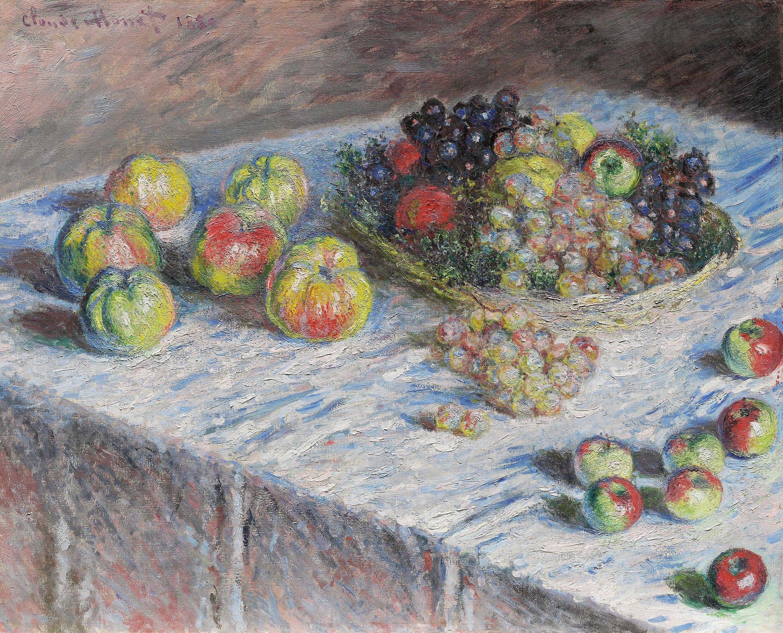 Pommes et raisins in 2020 | Monet art, Claude monet art, Claude monet
