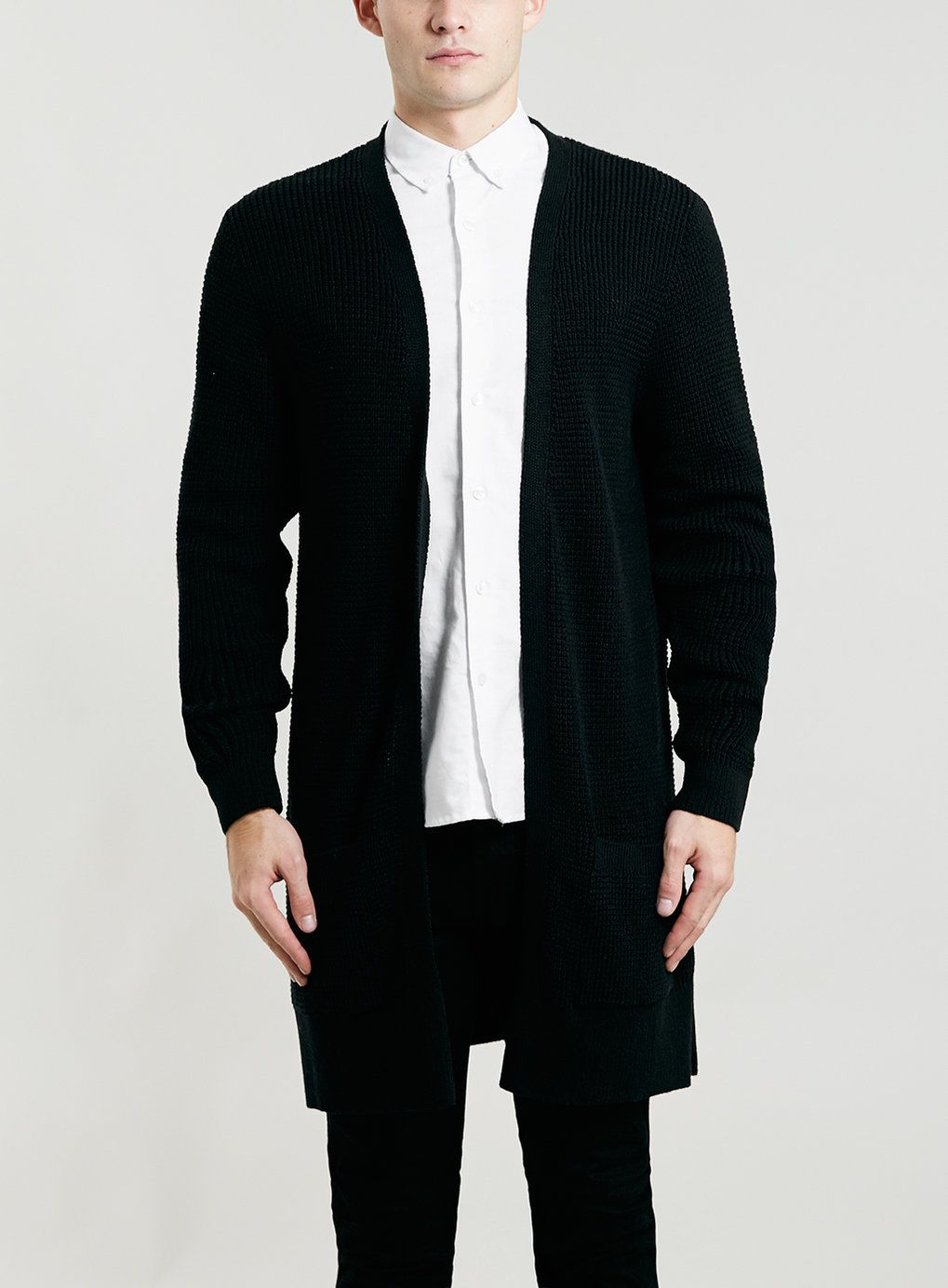 Photo 1 of BLACK LONG LINE DUSTER CARDIGAN | pur(chase) these ...