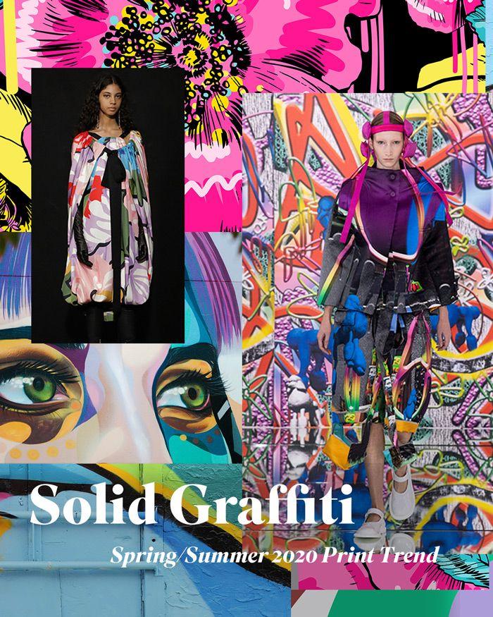 Spring/Summer 2020 Print & Pattern Trend - Solid Graffiti
