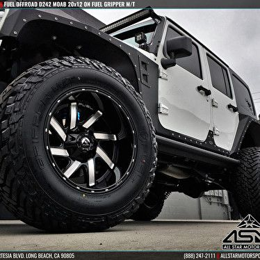 White Jeep Wrangler Jk Custom Forged Fuel Offroad Wheels D242