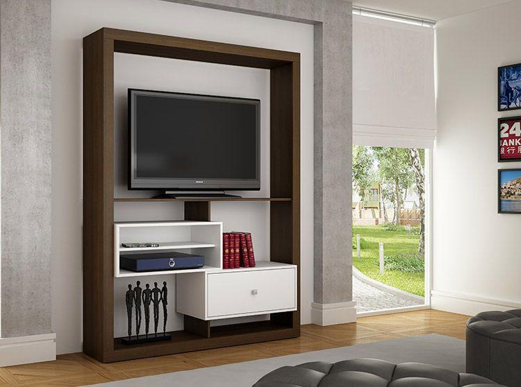Nto centro de entretenimiento 826 para tv 55 blanco for Muebles para smart tv 55