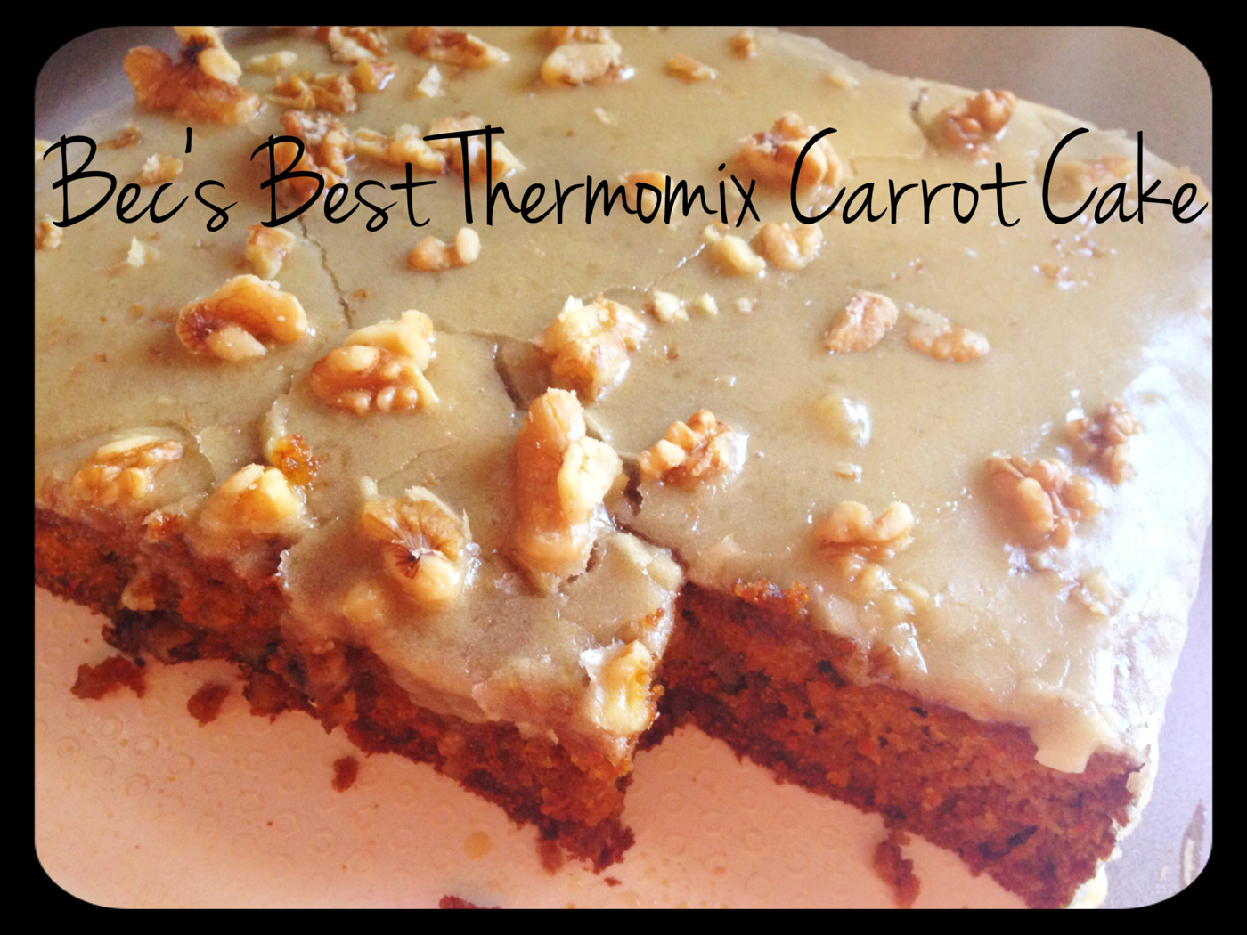 Bec S Best Thermomix Carrot Cake The 4 Blades Thermomix Carrot Cake Thermomix Baking Thermomix Recipes