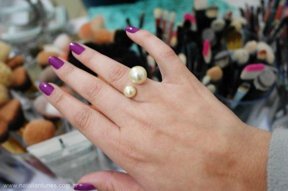 Anel Aberto aro fino com 2 pérolas 8 mm e 10 mm.    Dior inspired !! Luxo    Regulável.      2 gramas, folheado a ouro ! R$ 37,00