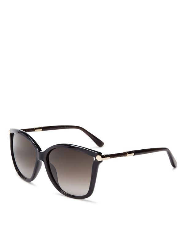 18de4097795 Jimmy Choo Tatti Oversized Square Sunglasses Cat Eye Frames