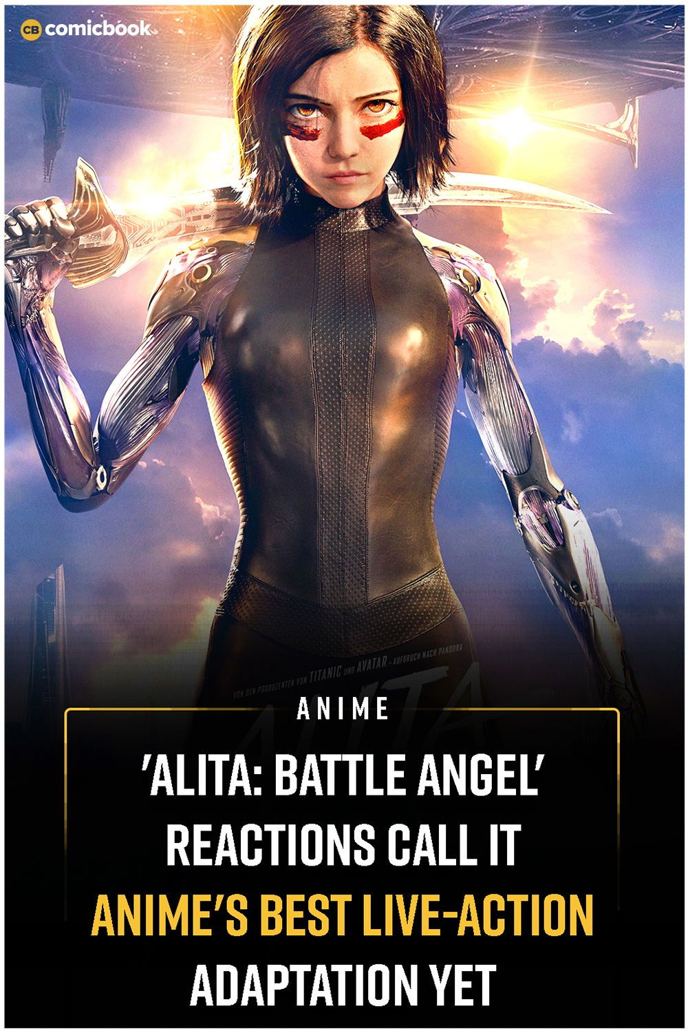 'Alita Battle Angel' Reactions Call It Anime's Best Live