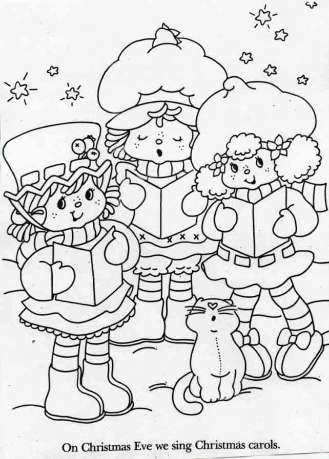 Blueberry Muffin Strawberry Shortcake Lemon Meringue And Custard Singing Christmas Coloring Pages Strawberry Shortcake Coloring Pages Holiday Coloring Book