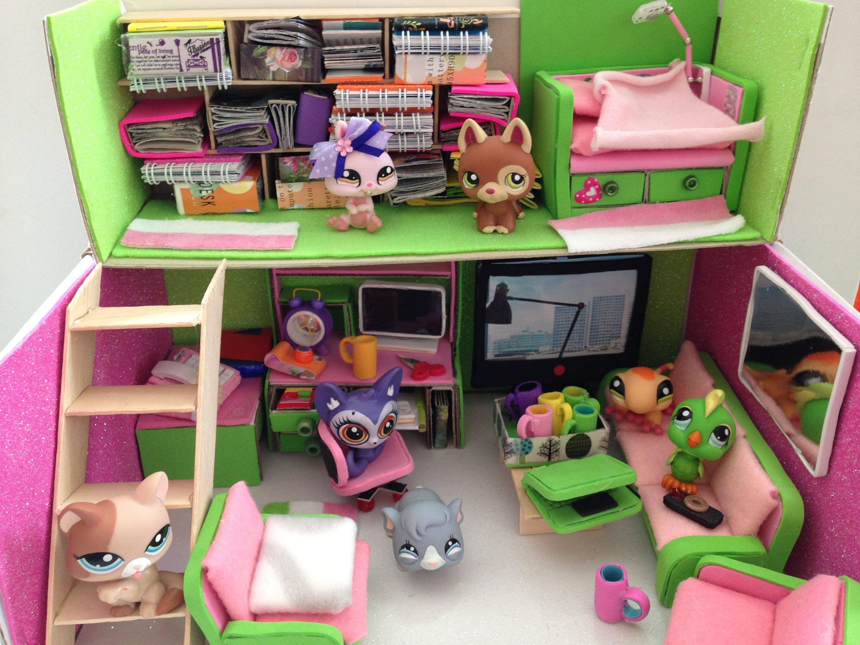 How To Make A Lps Doll Room Loft Lps Crafts Lps Accessories Lps Diy Accessories
