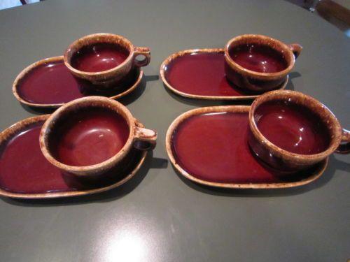 4 Sets Vintage Hull Pottery Brown Drip Sandwich Plate u0026 Soup Mug & Vans Unisex Authentic Skate Shoe   Hull pottery Pottery and Brown