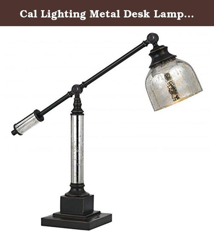 Cal Lighting Metal Desk Lamp In Dark Bronze Features Durable Metal C Desk Lamp Bulb Lighting