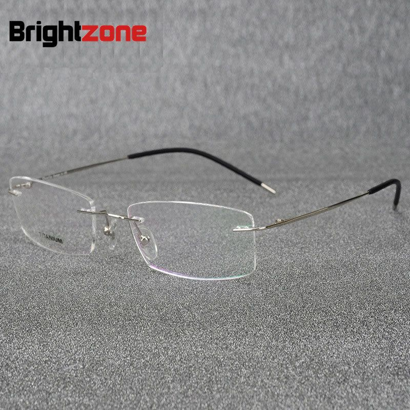 ad90f8db8c8 Click to Buy    Brightzone Light-weight Rimless Titanium Eyeglasses Frame  Flexible