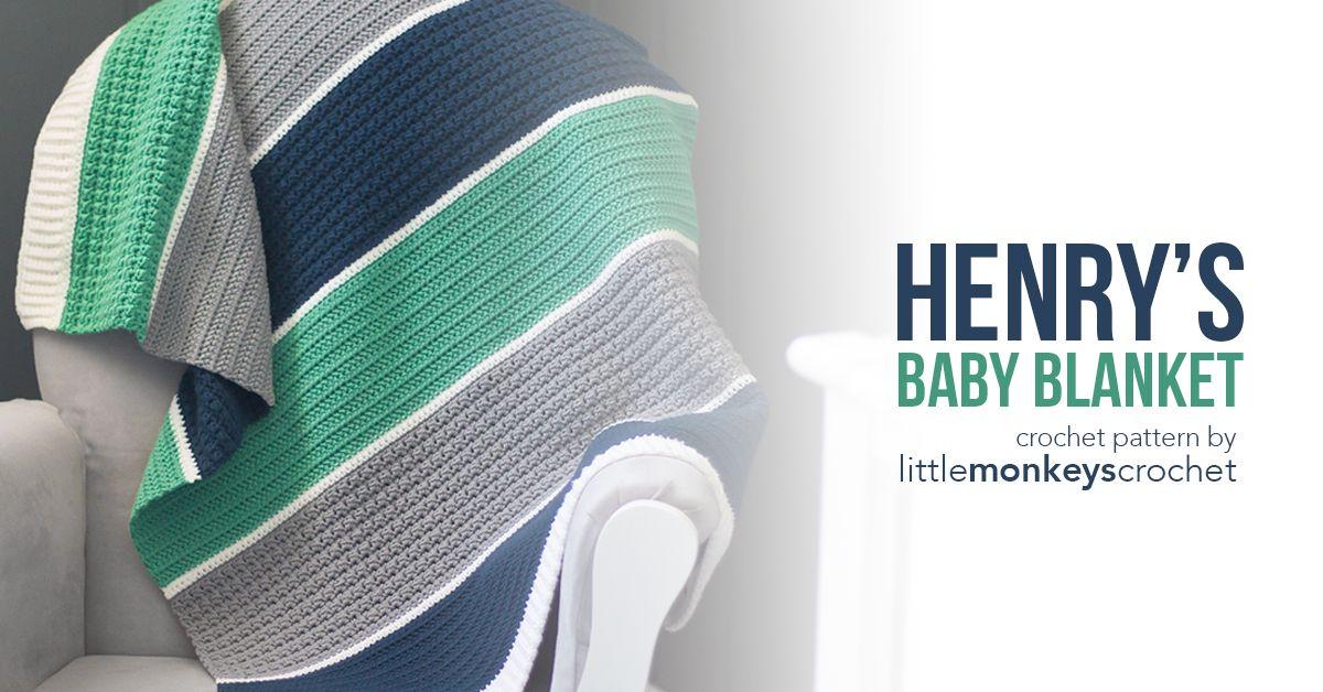 Henry\'s Baby Blanket | inne | Pinterest | Cobija, Tejer dos agujas i ...