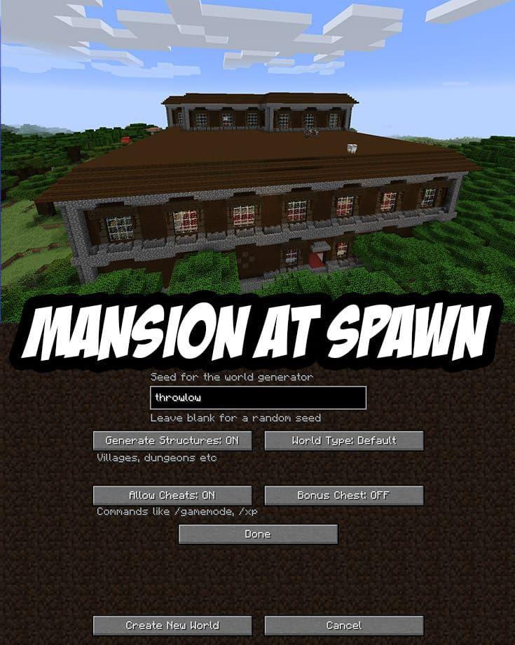 Woodland Mansion Spawn Seed Pc Mac Throwlow Amazing Minecraft Minecraft Cheats