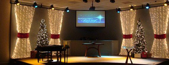 Curtains Ideas christmas curtain fabric : Christmas candle-light service. Drape two on each side of windows ...