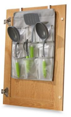 over the cabinet door gadget pockets kitchen gadgets organization cabinet door storage on kitchen organization gadgets id=81450
