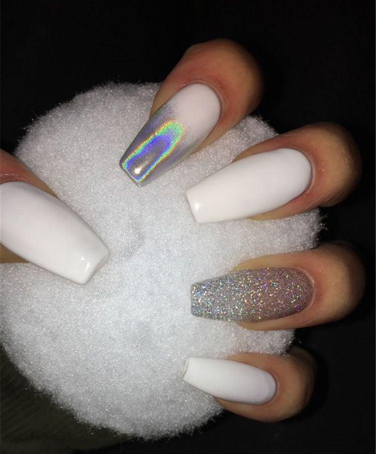 20 Elegant Long White Coffin Nail Ideas Page 17 Chic Cuties Blog Coffin Nails Designs Fake Nails Cute Acrylic Nails