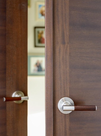 StileLine double door with astragal and wood/steel lever handles & StileLine double door with astragal and wood/steel lever handles ... pezcame.com