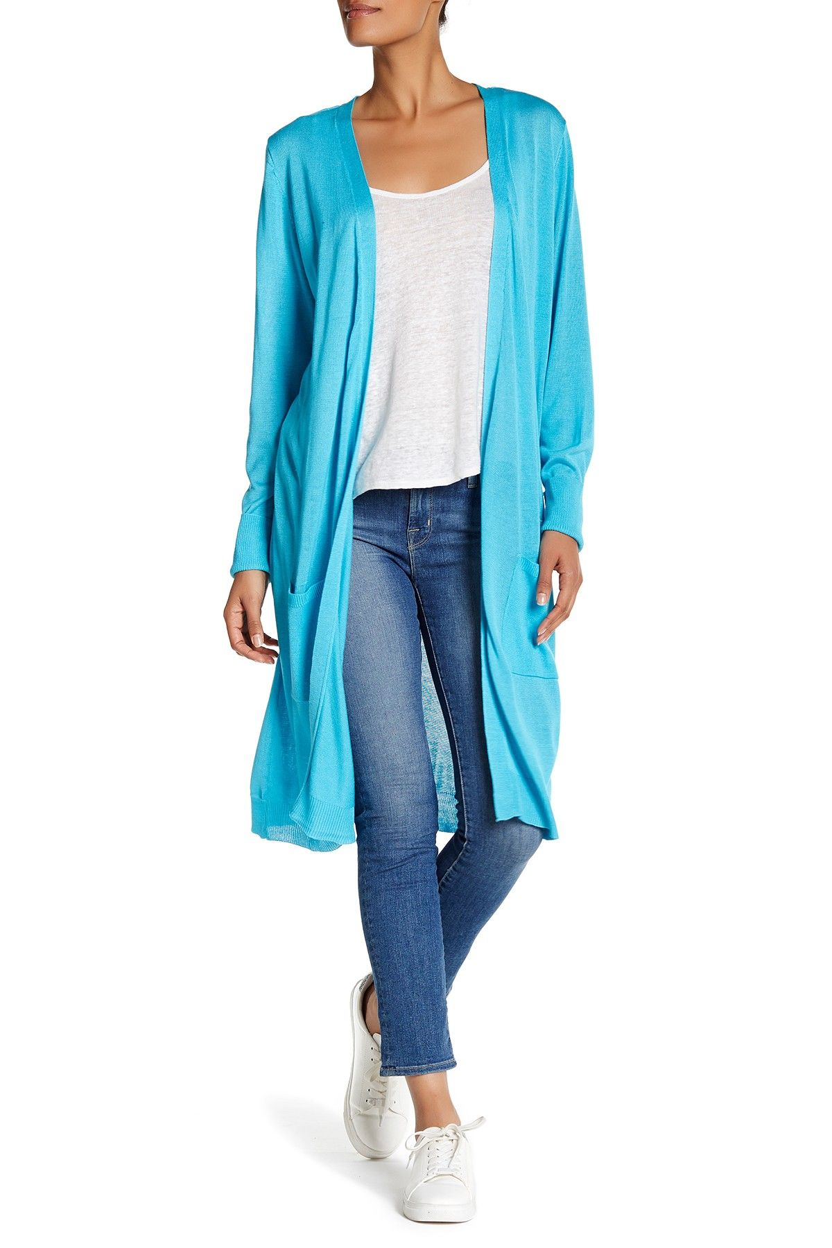 Long Pocket Duster Cardigan by JOSEPH A on @nordstrom_rack