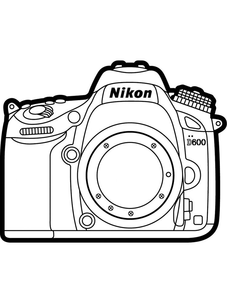 Printable Coloring Page Camera Printable The Camera Is A Device