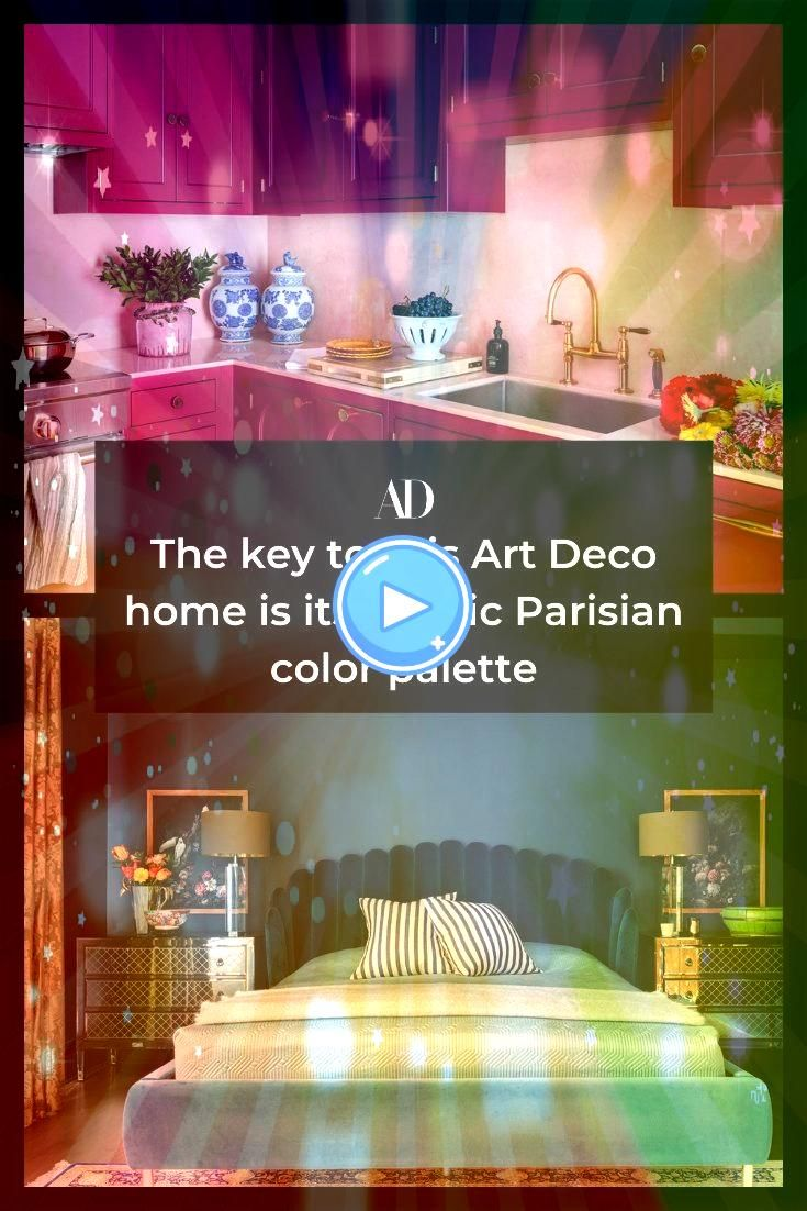 key to this Art Deco home is its classic Parisian color palette This Chicago highrise home is a modern take on classic French style with luxurious pinks blues and grays i...