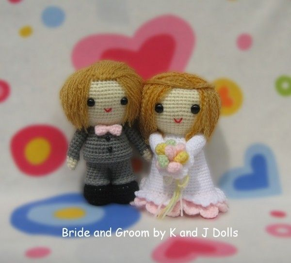 Braut und Bräutigam, Amigurumi Häkelanleitung | Crochet I Like ...
