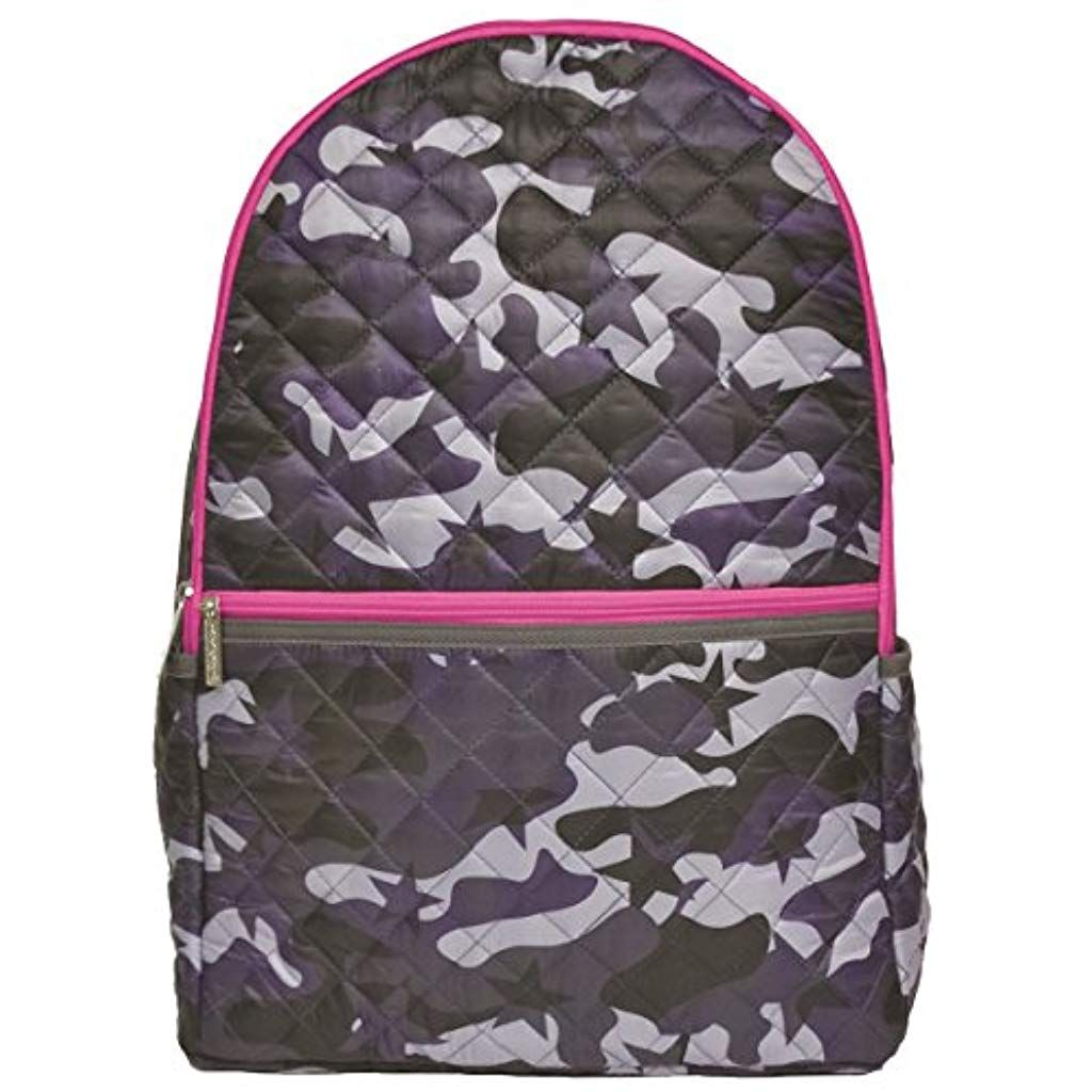 b7fd2fa73 Girls Quilted Midnight Camo 18 x 12 Backpack for School and Travel with  Interior Laptop Pocket #laptop #laptoptest #laptopinusakaufen #laptops  #laptopdeals ...