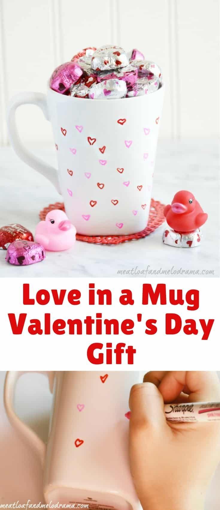 Diy love in a mug valentines day gift galentines day