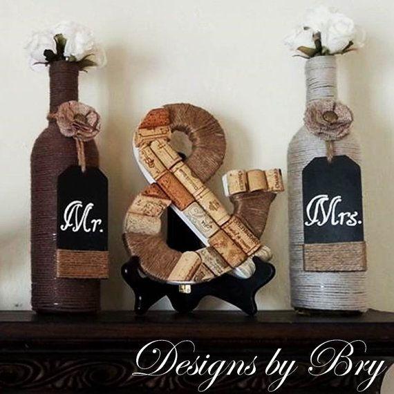 Pin von sarah haiderer auf wedding weinflasche geschenk flaschen und wein - Leere weinflaschen deko ...