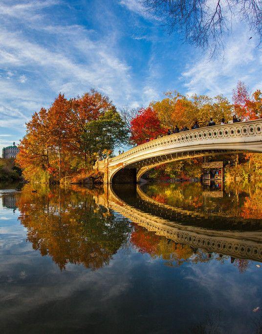 Puente de arco en el Parque Central de Nueva York.