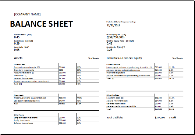 Printable Blank Balance Sheet Template | Download Free Balance Sheet ...