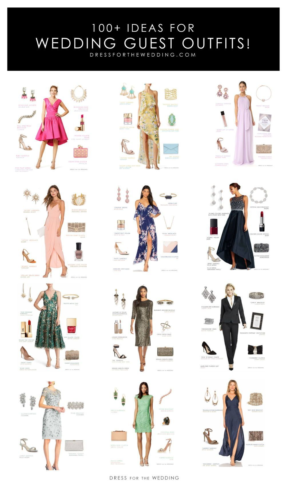 Ideas For Wedding Guest Outfits For Every Wedding Dress Code Weddingguest Summer Wedding Outfit Guest Wedding Guest Dress Summer Cocktail Dress Wedding Guest [ 1687 x 1000 Pixel ]