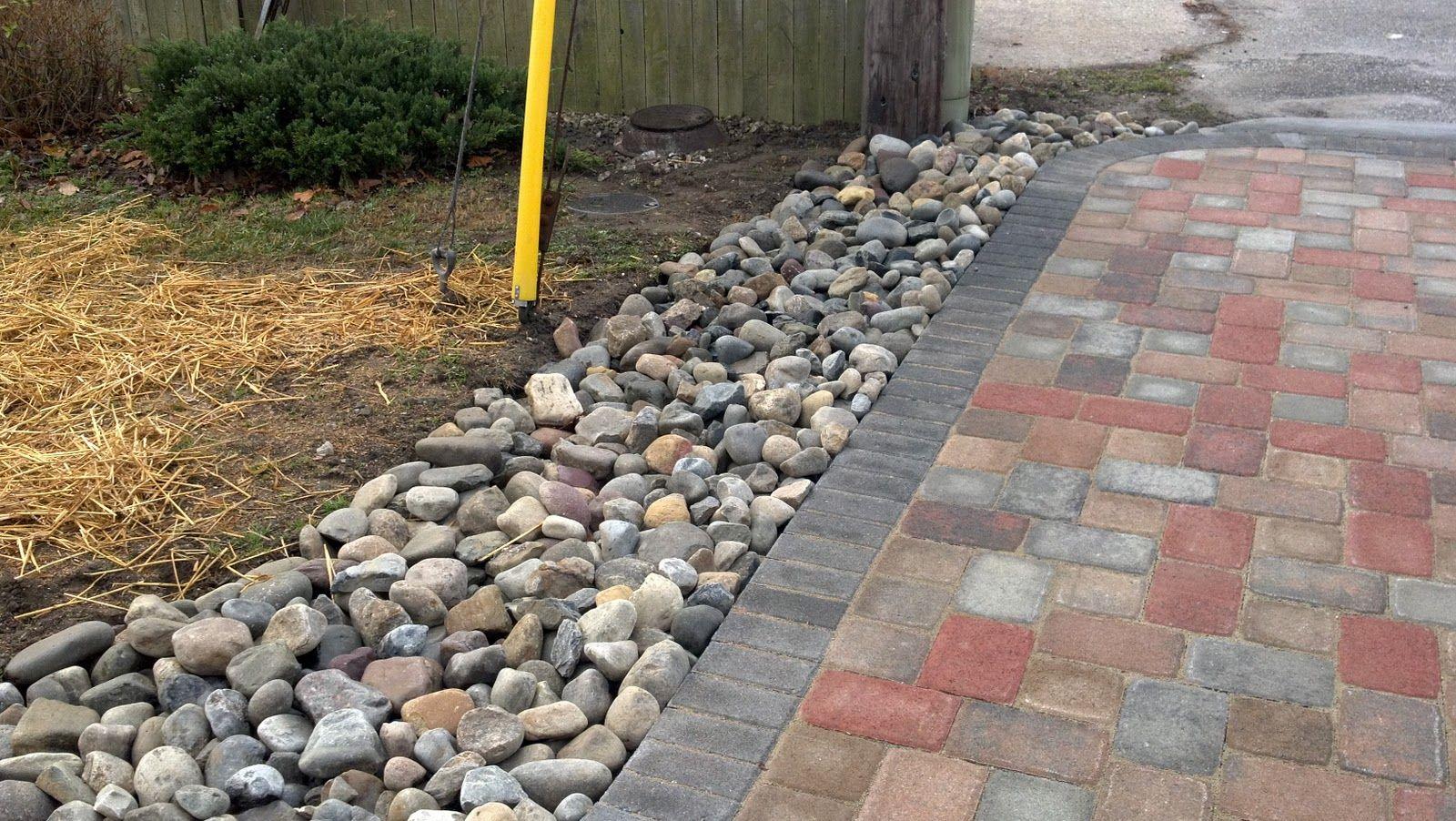Gravel patio drainage river gravel drainage system for Patio drainage