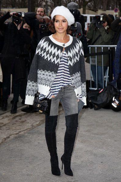 Chanel : Outside Arrivals - Paris Fashion Week - Haute Couture S/S 2014