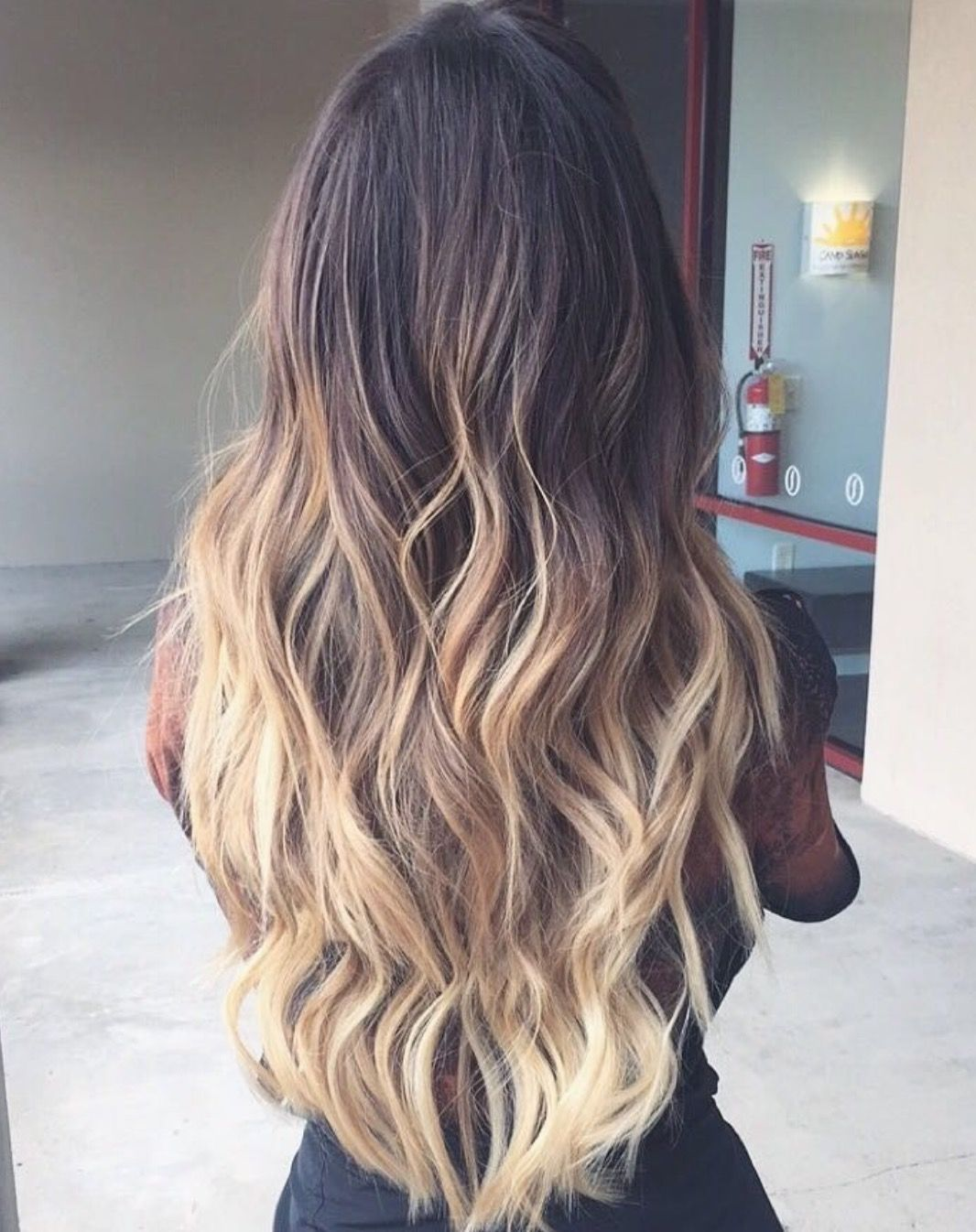 Stunning Bronde Brown To Blonde Balayage Ombre On Marina Rumppe