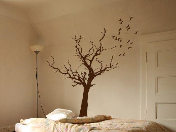 Wandtattoo Baum mit Vögeln Wohnstube Pinterest Wandtattoo - wandtattoo braune wand
