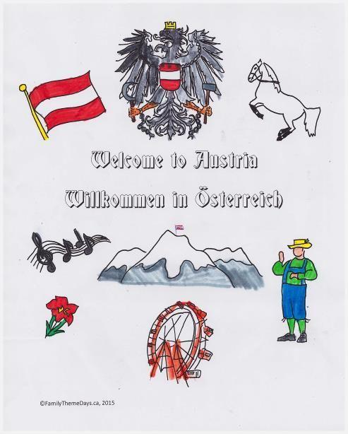 Austria Coloring Page Austria Theme Day Free Printable Free